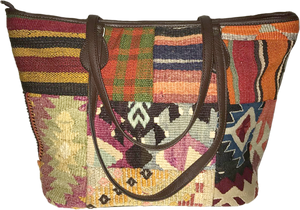 Patchwork Kilim Tote Bag