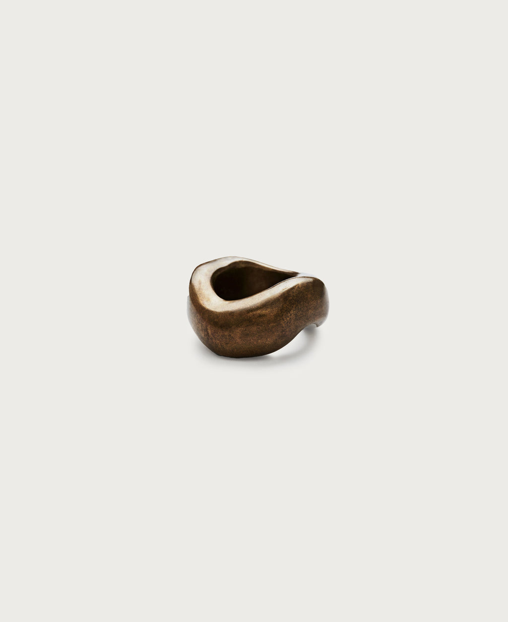 Bronze 'Wavy' Napkin Ring - Set of 4