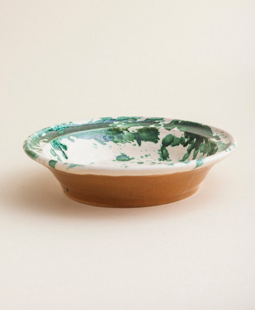 Large Splatterware Serving Dish