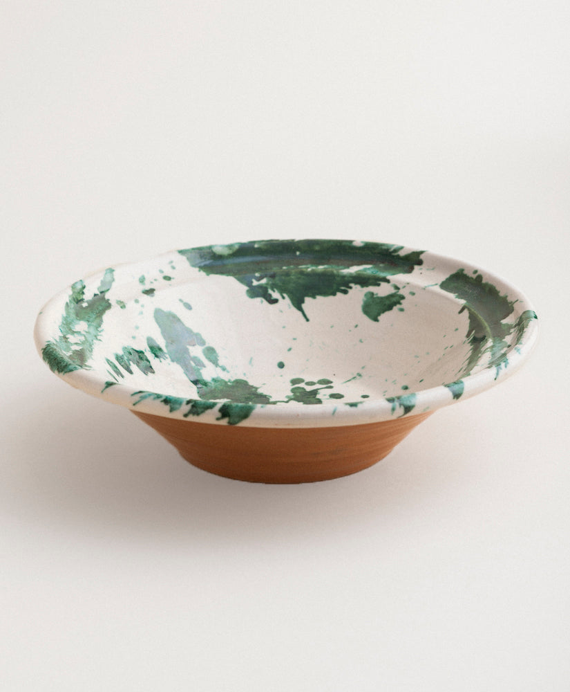 Large Splatterware Serving Bowl