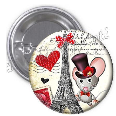 Badge souris Paris Tour Eiffel