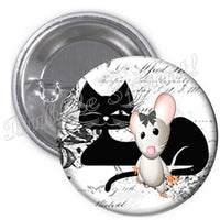 Badge chat et souris