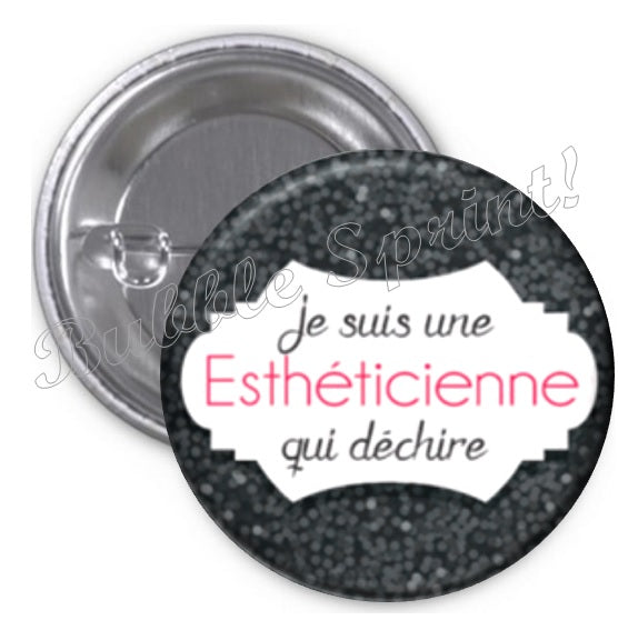 Badge Esthéticienne