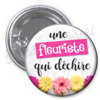 Badge fleuriste