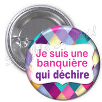 Badge Banquière