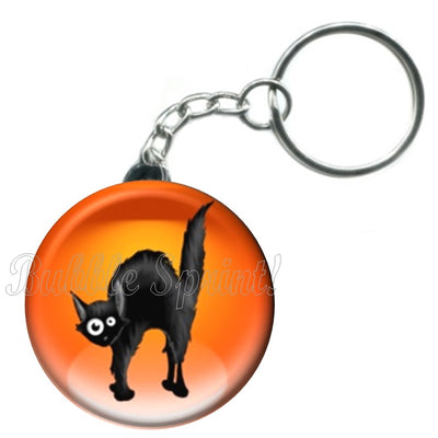 Porte-clés Chat halloween