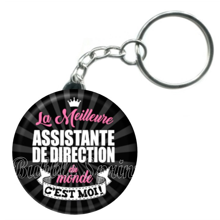 Porte-clés Assistante de direction