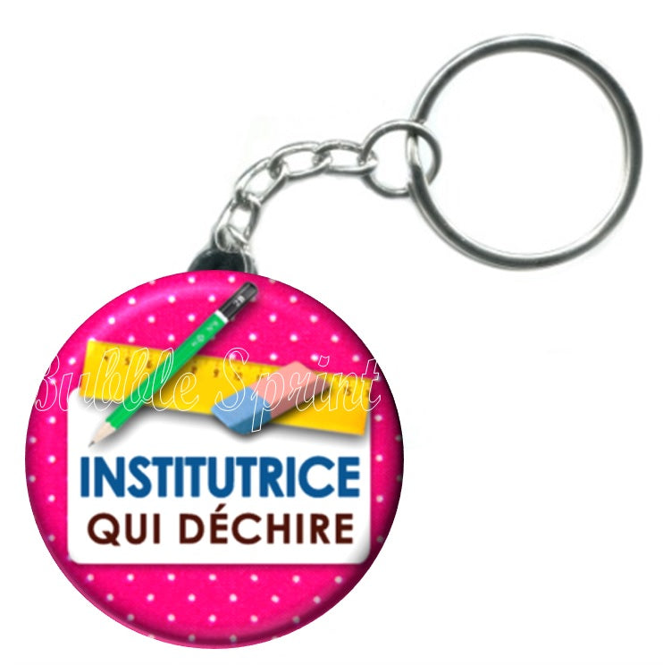 Porte-clés Institutrice