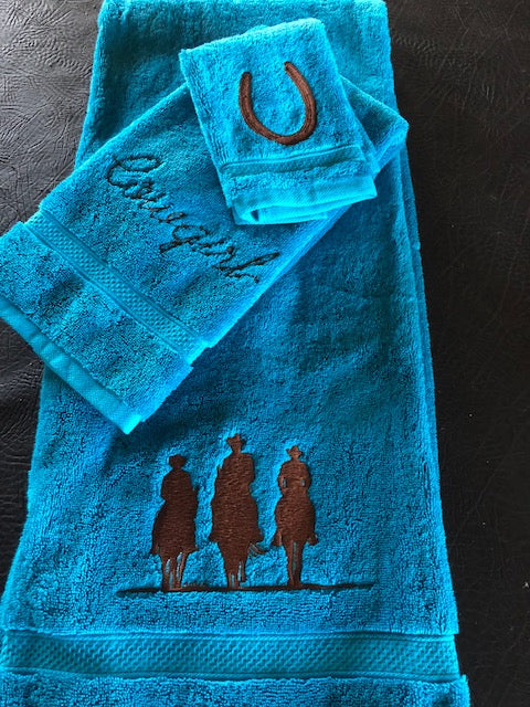 Western Towels Embroidered