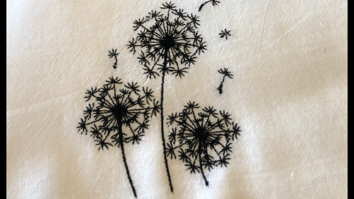 Make a Wish Flour sack dishtowel