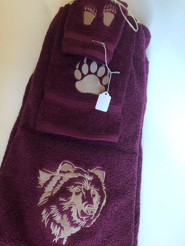 Grizzly bear towels