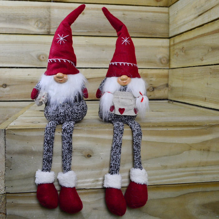 56cm Sitting Christmas Gonk with Red Pointy Hat - Various Designs