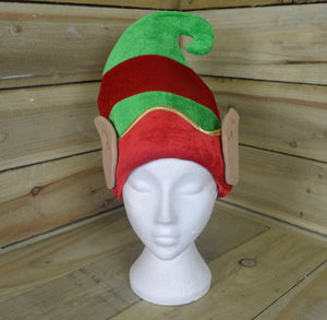 33cm Novelty Fancy Dress Fabric Christmas Elf Hat With Ears