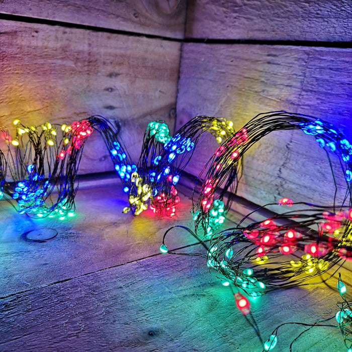 Premier Waterfall Ultra Brights Multi Action 400 Multicoloured LED Christmas Lights