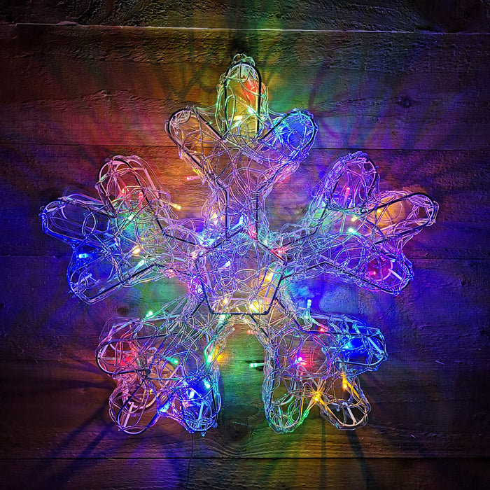 Premier Christmas 47cm Acrylic Snowflake with Multi Colour LED Lights