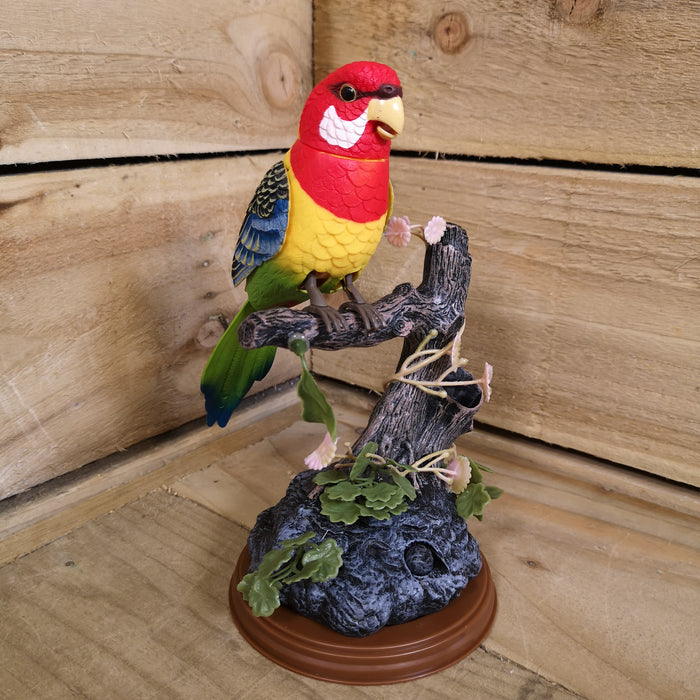Premier Christmas 22cm Parrot on Branch with Animation & Recording Function
