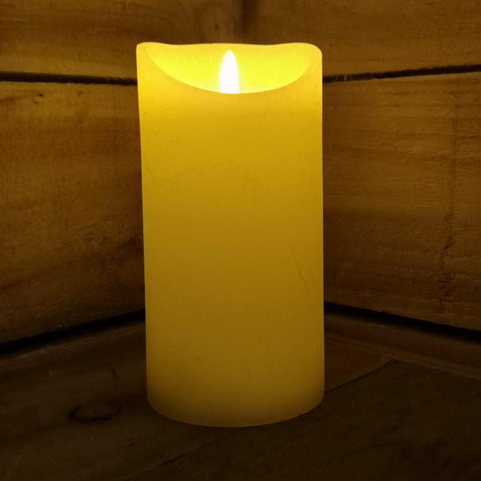 180mm Premier Christmas Cream Flickerbright Candle with Timer