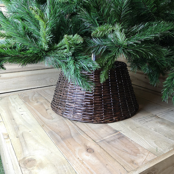 57CM X 28CM Wicker Willow Tree Skirt In a Natural Brown Colour