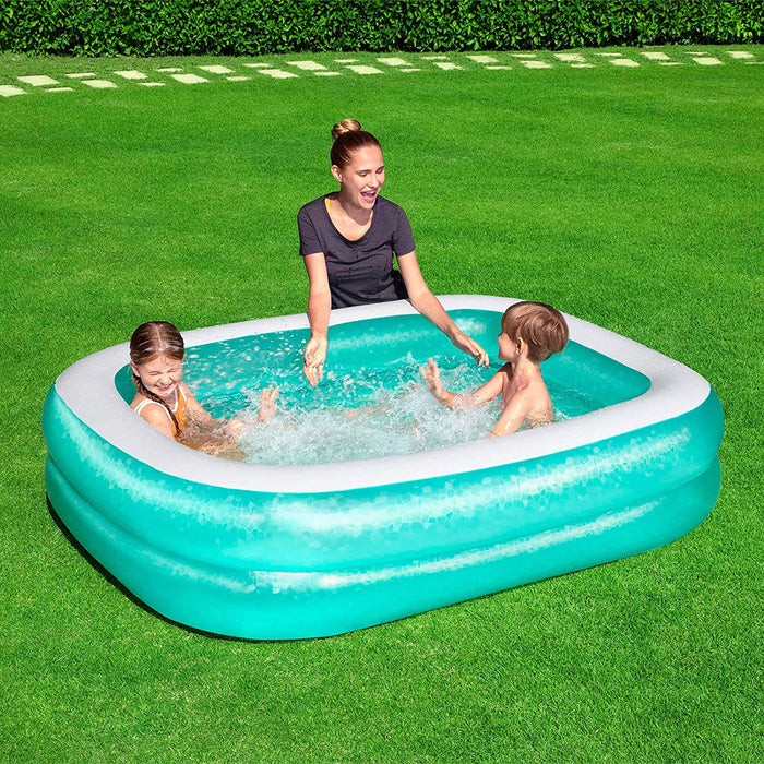 Bestway 450 Litre Rectangular Family Paddling Pool (201 x 150 x 51cm)