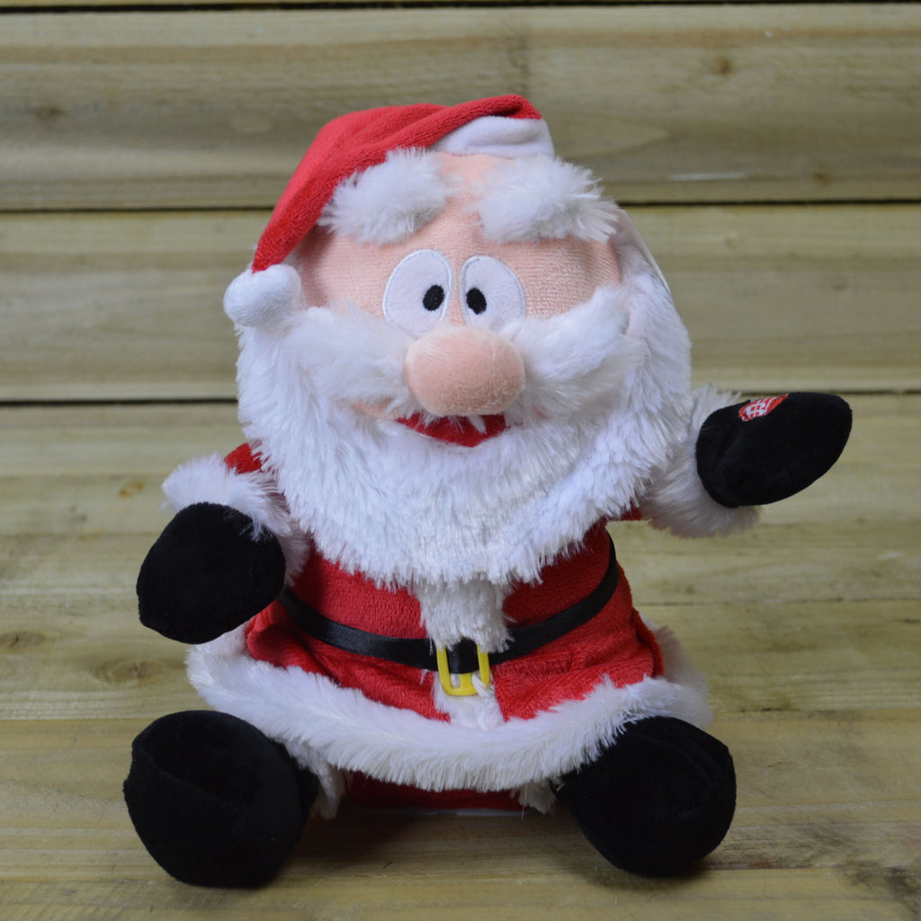 27cm Tall Animated Santa with Moving Eyebrows & Christmas Music