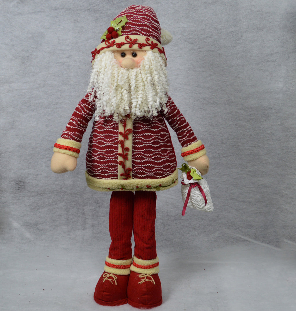 85cm Tall Deluxe Standing Plush Christmas Decoration - Santa