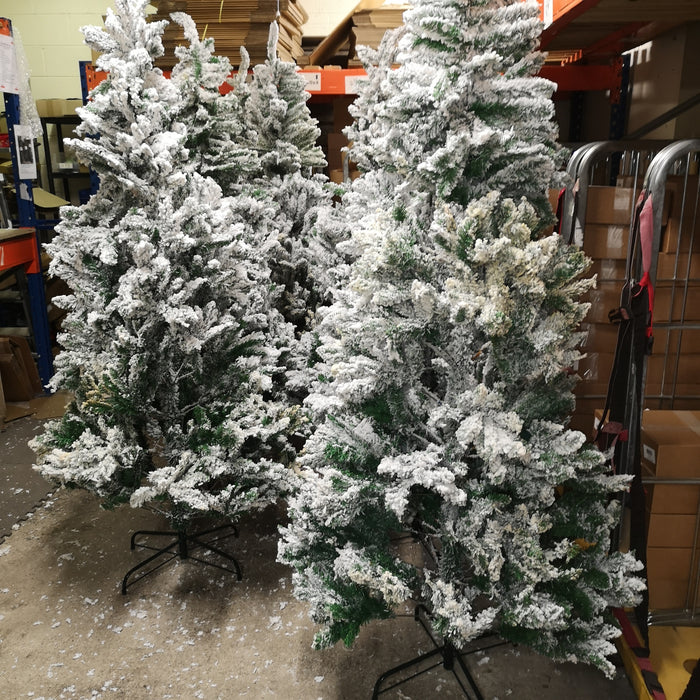 CHEAP DEAL - PREMIER 7ft Snow Valley Fir Christmas Tree WATER DAMAGED