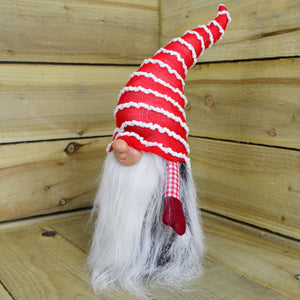 40cm Red Christmas Bearded Gonk - Stripey and Dotty