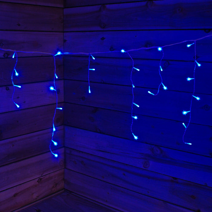 100 Blue Icicle Connectable LED Seasonal Lights