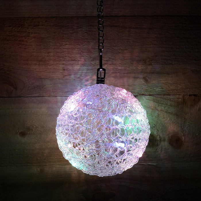 Snowtime Christmas 15cm Light Ball 16 Rainbow LEDs