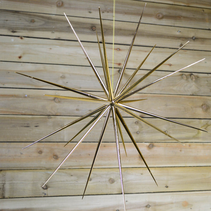 57cm Gold Hanging 3D Starburst Indoor Star Festive Christmas Decoration