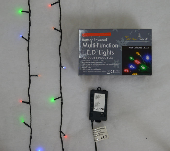 Super-Long 10m Battery Powered Multi-Function 100 LED Multi Colour Lights