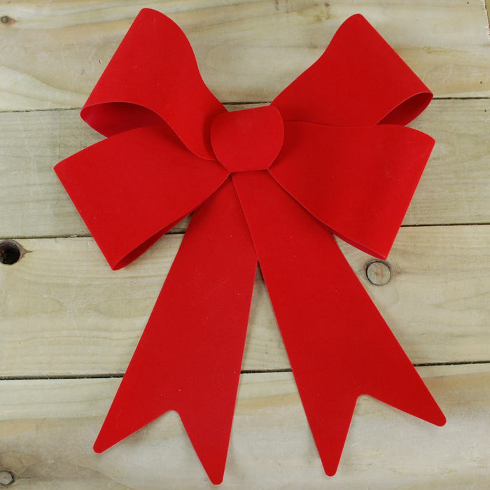 37 X 49 X 13cm Red Velvet Bow  On Tie On Card