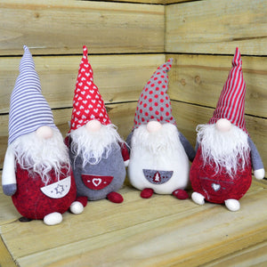 35cm Standing Christmas Gonks - Festive Christmas Decoration Santa