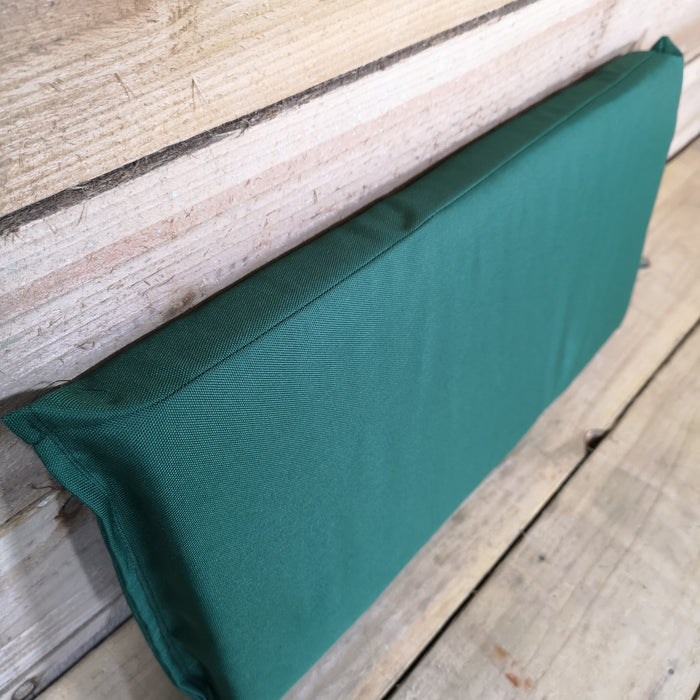 Charles Taylor Single Seater Wooden Chair Back Cushion In Green