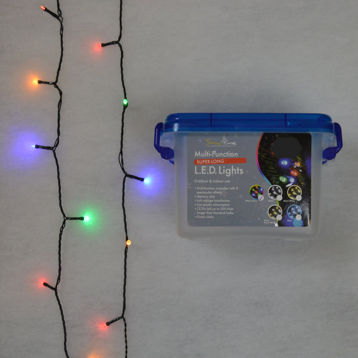 23.9m (240 LEDs) LED Indoor / Outdoor Christmas Tree Lights - Multi Coloured