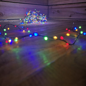 Premier 1000 Christmas Tree Ultra Bright With Timer Multi Coloured Large LEDs With Green Wire