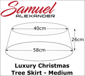 58cm x 26cm Medium Natural Wicker Christmas Tree Skirt