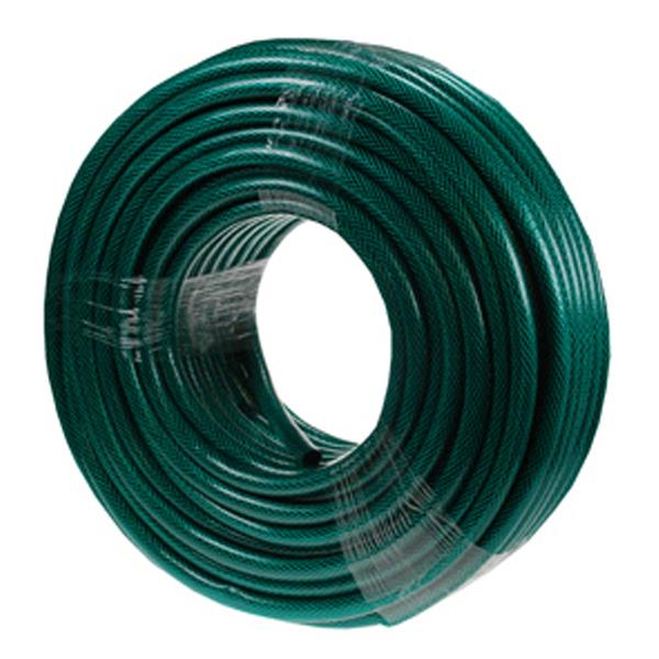 50m Reinforced Garden Hose Pipe in Green