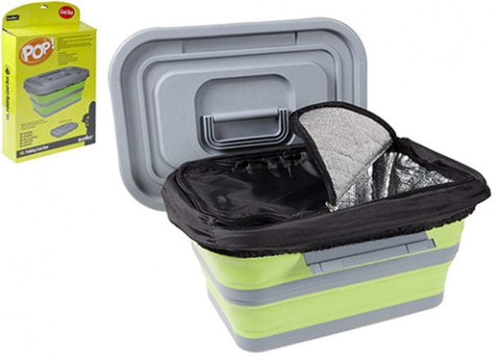 18L Folding Cool Box And Storage Container Ideal For Camping / Caravan Trips