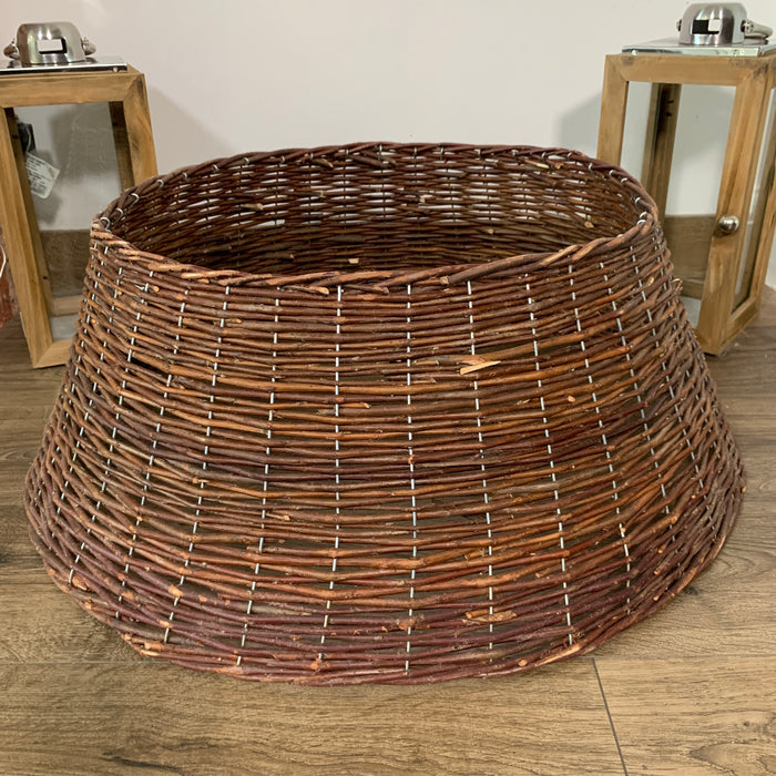 67cm x 26cm Large Willow Brown Wicker Christmas Tree Skirt