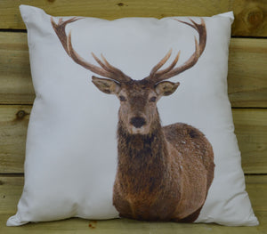 Choice of 45cm x 45cm Christmas Design Scatter Cushions with Stag Reindeer Print