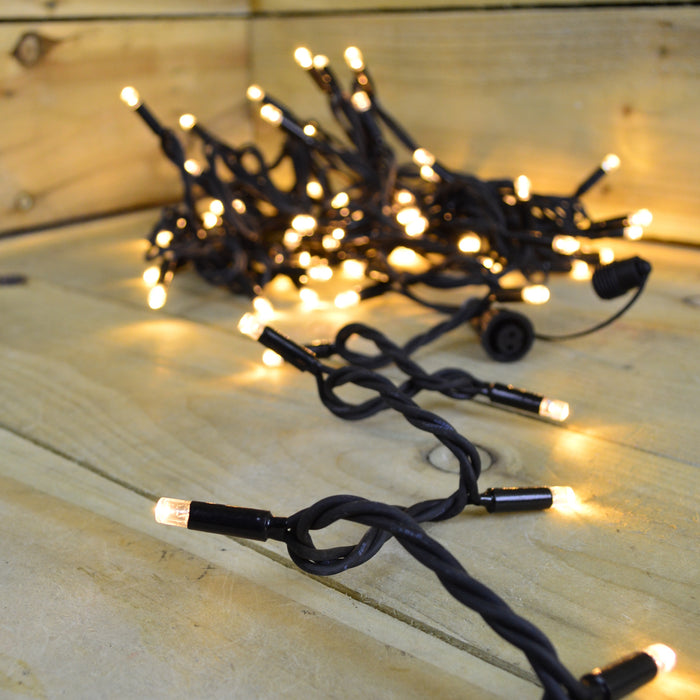 100 Warm White Connectable String Lights with Ultra Bright LED