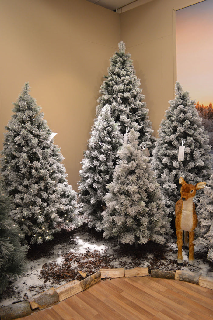 4ft, 5ft, 6ft, 7ft or 8ft Snowy Vancouver Artificial Christmas Tree Green