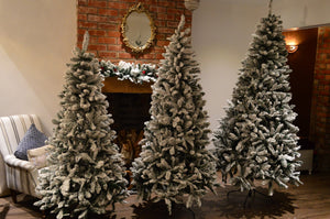 6ft, 7ft or 8ft Premier Snow Valley Fir Deluxe Snow Flocked Christmas Tree