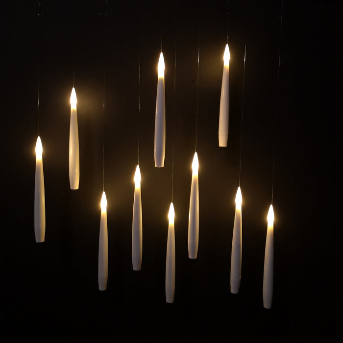 10pcs 15cm Floating Candle with ON-OFF Remote Control