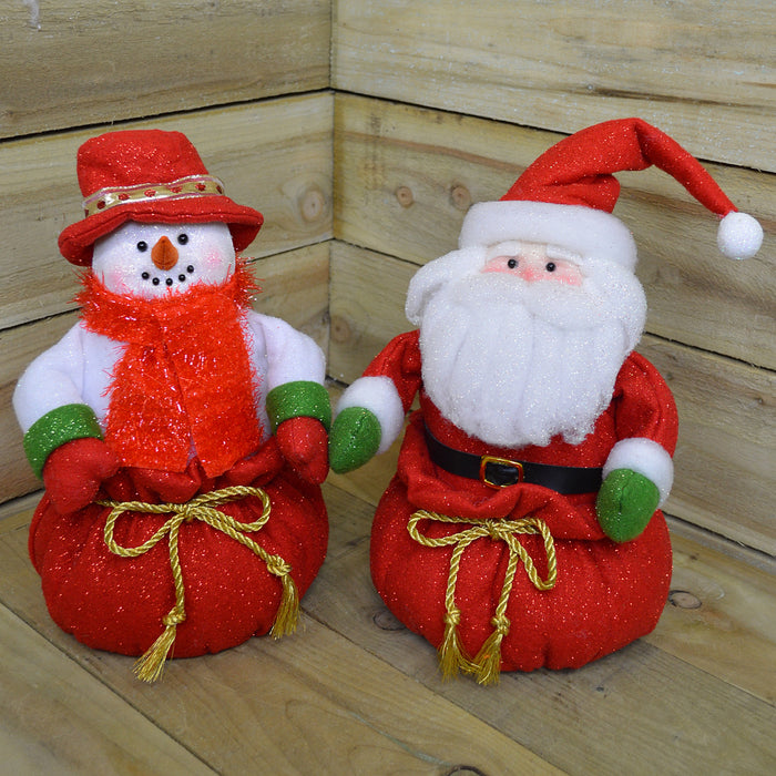 35cm Tall Waving Battery Light Up Festive Christmas Character Decoration