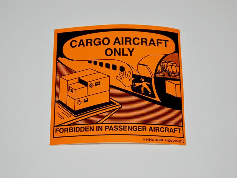 Cargo Aircraft Only Label - Rainhart