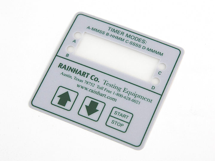 Mary Ann Digital Timer Replacement Label - Rainhart