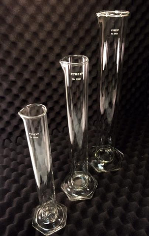 Hydrometer Cylinder Available in 250ml, 500ml, and 100ml.