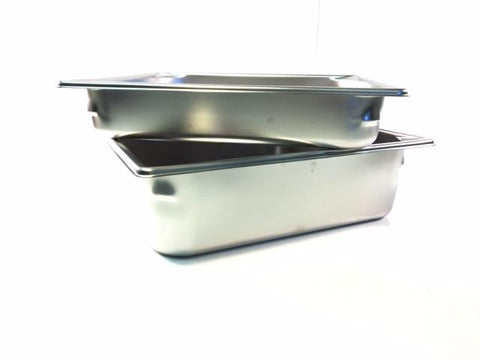 14'' x 13'' Stainless Steel Pans Available in 2'' and 4'' Depth.